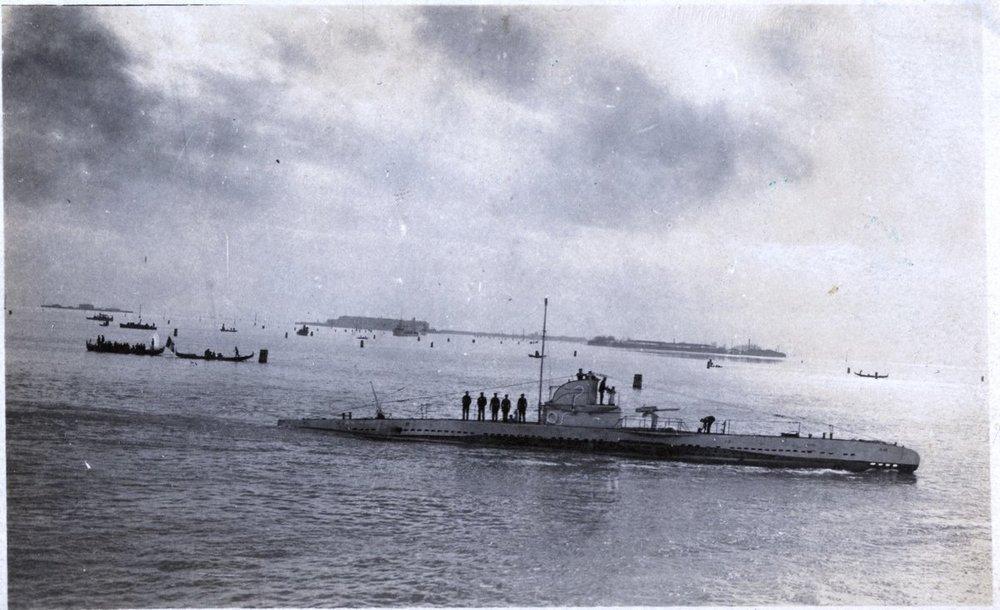 Sommergibile Austro Ungarico U40 da Pola a Venezia 1918.jpg